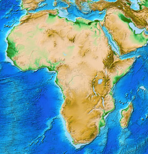 Africa ice map